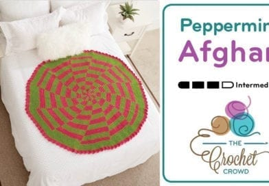 Crochet Peppermint Pinwheel Afghan + Tutorial