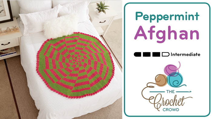 Crochet Peppermint Christmas Tree Skirt Pattern