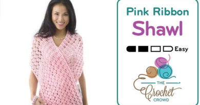Crochet Pink Ribbon Shawl + Tutorial