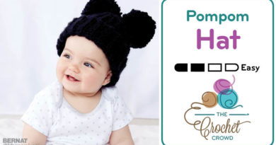 Crochet Adorable Pompom Hat Pattern + Tutorial