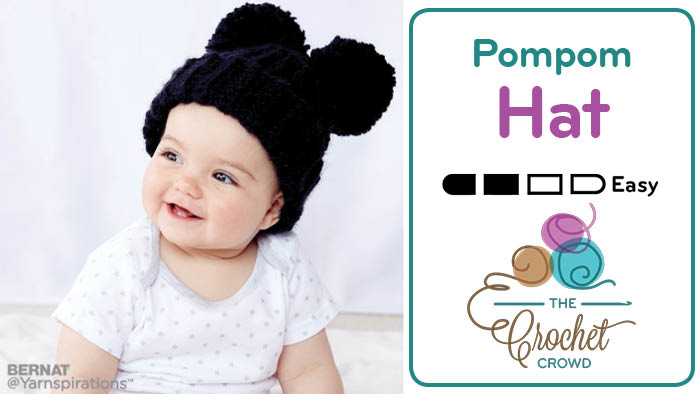 Crochet Adorable Pompom Hat