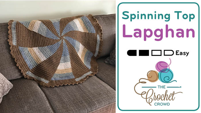 Crochet Spinning Top Lapghan