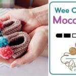 Crochet 🍼 Baby Booties Moccasins + Tutorial