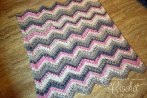 Crochet Hugs & Kisses Baby Blanket by Jeanne Steinhilber
