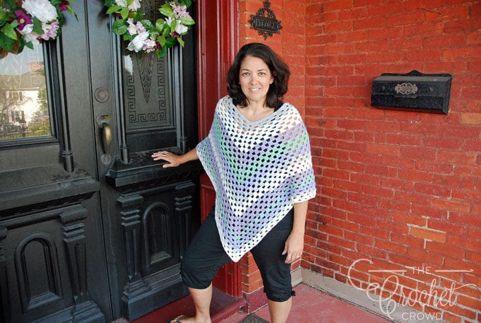 Crochet Summer Poncho by Jeanne Steinhilber