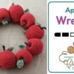 Crochet Fall 🍎  Apple Wreath