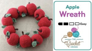 Crochet Fall Apple Wreath