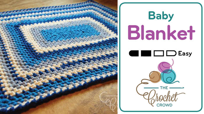 Crochet A Quick Easy Baby Blanket Tutorial The Crochet Crowd