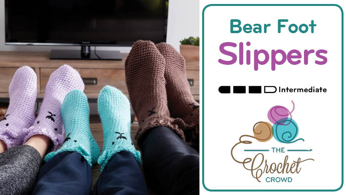 Crochet Bear Foot Slippers / Socks Pattern