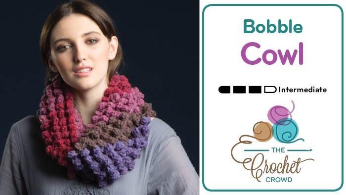 Crochet C2C Bobble Cowl Pattern + Tutorial