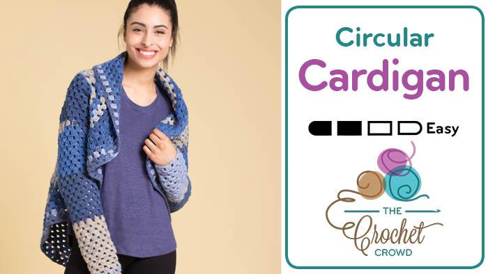 Crochet Circular Granny Cardigan