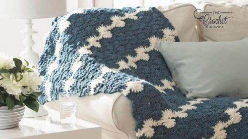 Crochet Gentle Waves Blanket