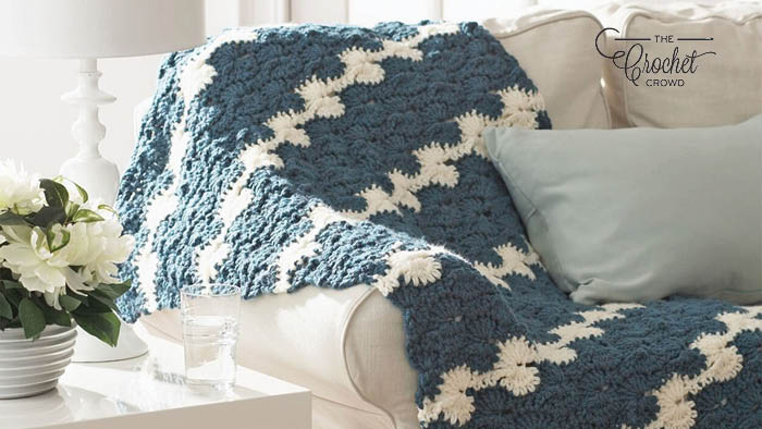 Crochet Gentle Waves Blanket