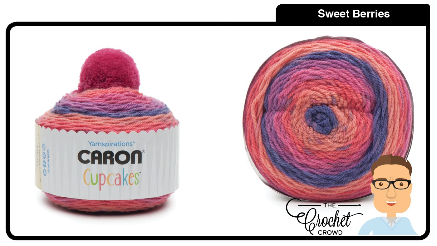 ac3330df4bc Crochet Caron Cupcakes Pom Pom Hat + Tutorial
