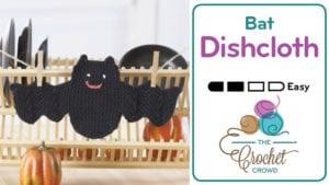 Crochet Bat Dishcloth