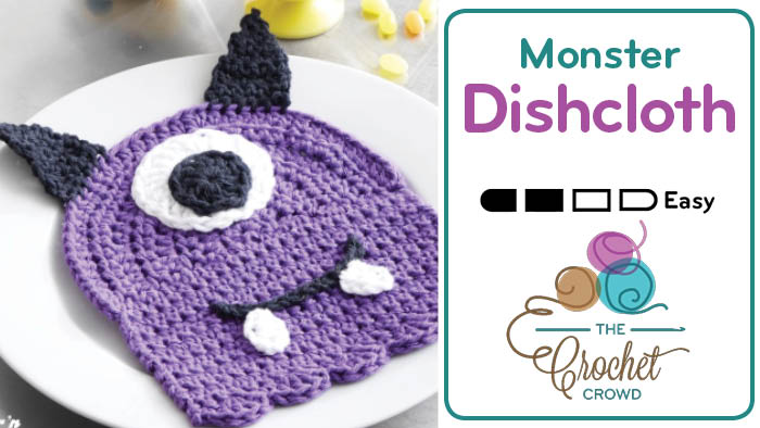 Crochet Monster Dishcloth
