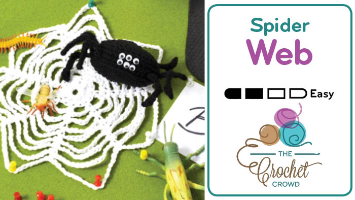 Crochet Spider and Web Pattern for Halloween