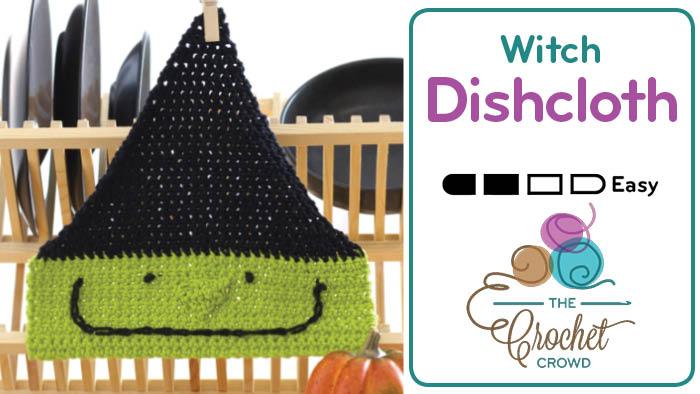 Crochet Witch Dishcloth Pattern