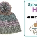Crochet Spiral Step Hat