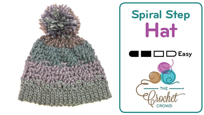 Crochet Spiral Step Hat