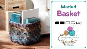 Crochet Marled Basket with Caron Big Cakes