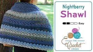Crochet Nightberry Shawl by Jeanne Steinhilber