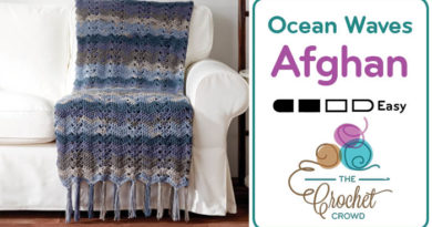 Crochet 🌊  Ocean Waves Afghan + Tutorial