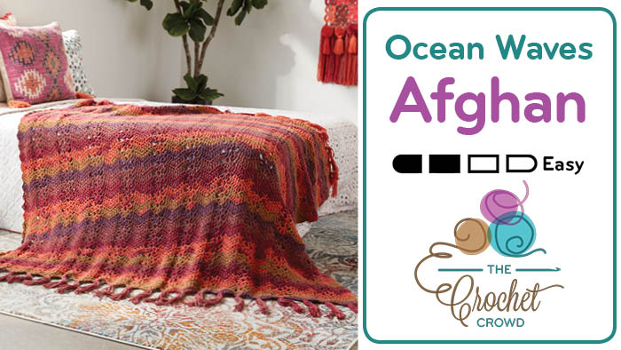 Crochet Boho Ocean Waves Afghan Pattern + Tutorial