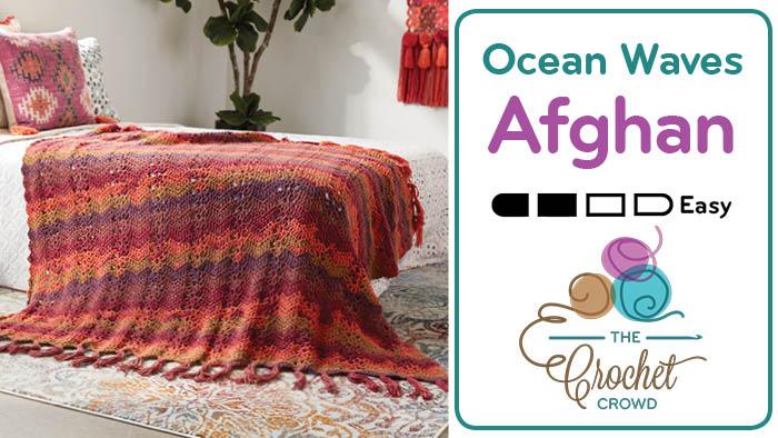 Crochet Boho Ocean Waves Afghan Pattern