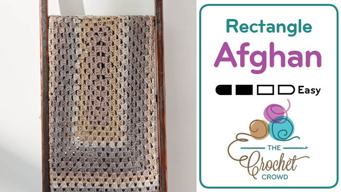 Crochet Rectangle Granny Afghan Pattern + Tutorial