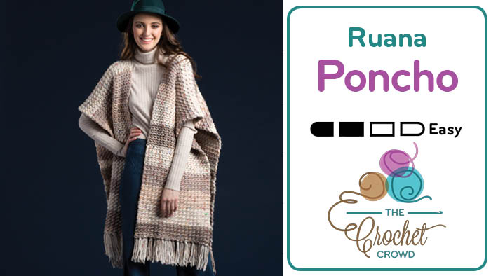 Crochet Ruana Poncho Tutorial The Crochet Crowd