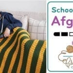 Crochet 🍎  School Colour Texture Afghan + Tutorial