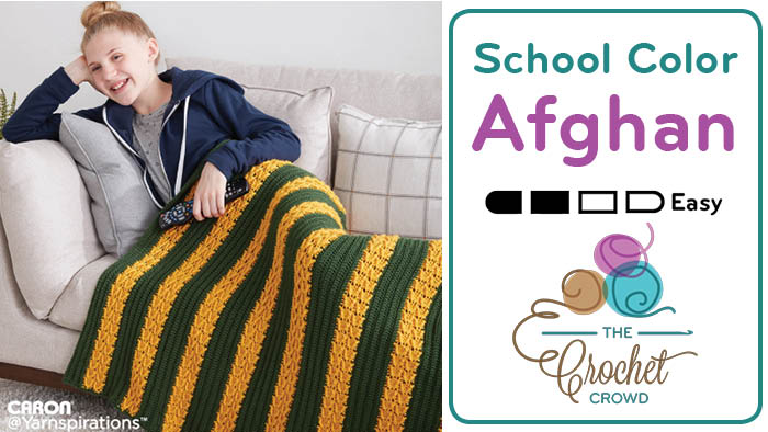 Crochet School Colours Texture Afghan