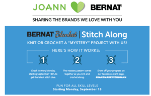 Bernat Blanket Stitch Along with JOANN