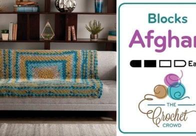 Crochet Stacking Blocks Afghan