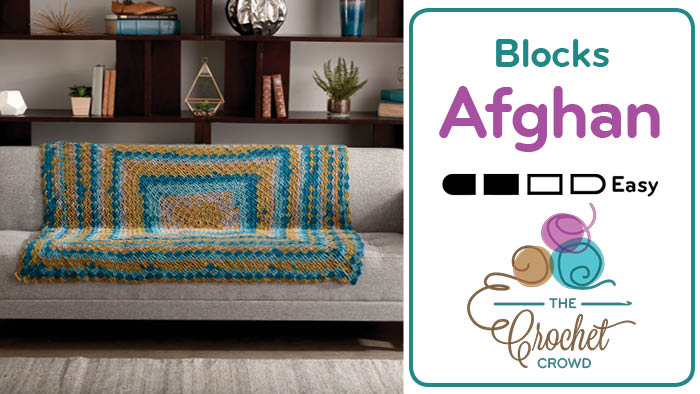Crochet Stacking Blocks Afghan