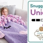 Crochet Unicorn Snuggle Sack + Tutorial