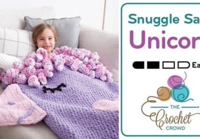 Crochet Unicorn Snuggle Sack + Tutorial