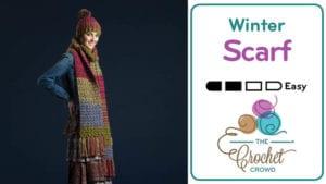 Crochet Artsy Puff Stitch Scarf