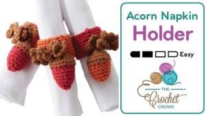 Crochet Acorn Napkin Holder