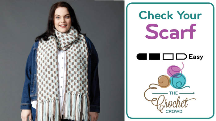 Crochet Check Yourself Scarf