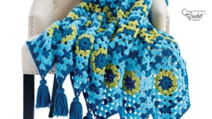 Crochet Catch A Wave Granny Afghan