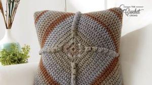 Crochet Granny Puff Pillow