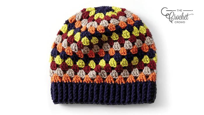 Crochet Granny Stripes Hat