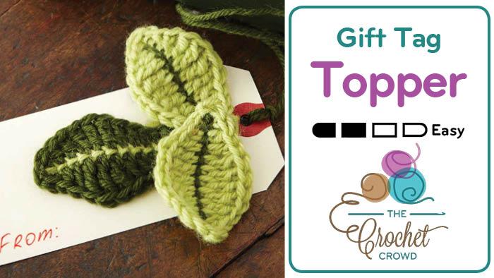 Crochet Leaf Gift Tag Topper