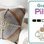 Crochet Puff Granny Pillow + Tutorial