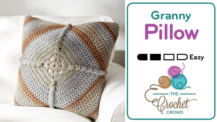 Crochet Granny Puff Pillow