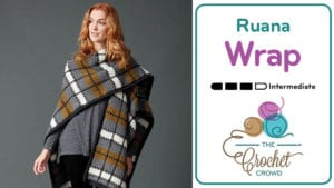 Crochet Plaid Ruana Wrap