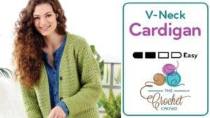 Crochet V-Neck Cardigan