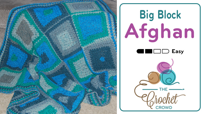 Crochet Big Blocks Modern Granny Afghan Pattern